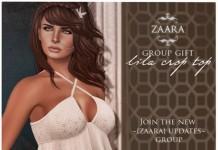 Lila Crop Top Group Gift by ZAARA - Teleport Hub - teleporthub.com