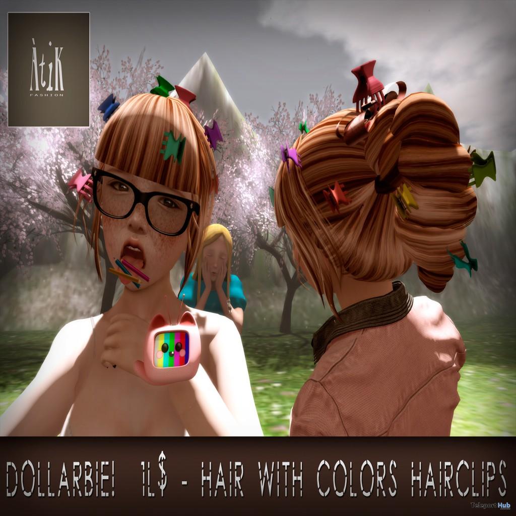 Dollarbie Hair, Hairclips 1L Promo by AtiK  - Teleport Hub - teleporthub.com