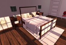 New Release: Upholstered Bed by Warm Animations - Teleport Hub - teleporthub.com