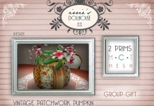 Vintage Patchwork Pumpkin Group Gift by irrie's Dollhouse - Teleport Hub - teleporthub.com