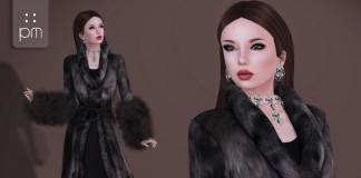 Anastasia Faux Fur Coat with Dress Group Gift by PurpleMoon - Teleport Hub - teleporthub.com