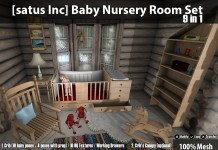 New Release: Baby Nursery Room Set (9 in 1) by [satus Inc] - Teleport Hub - teleporthub.com