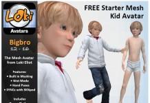 Mesh Kid Avatar Bigbro by Escapades Store - Teleport Hub - teleporthub.com