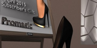 Black High Heels for Slink Feet Subscriber Gift by PROMAGIC - Teleport Hub - teleporthub.com