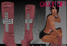 Cross Boots Suede Pink May 2015 Group Gift by #187#