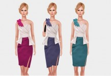 Peplum Dress Outfit 3 Colors With Clutch Group Gift by Hilly Haalan Fashions - Teleport Hub - teleporthub.com