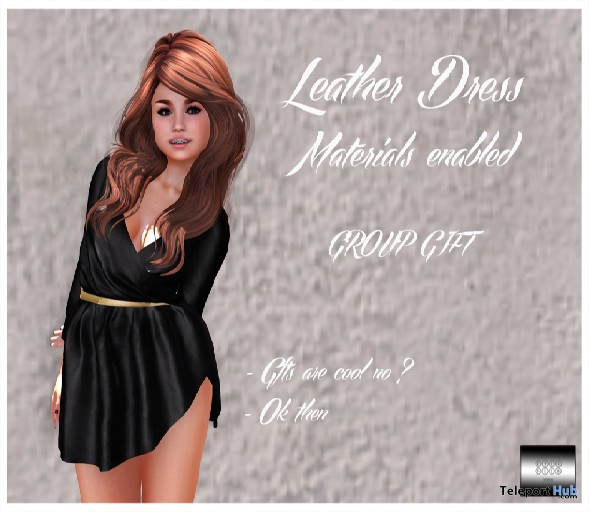 Leather Dress Group Gift by even flow - Teleport Hub - teleporthub.com
