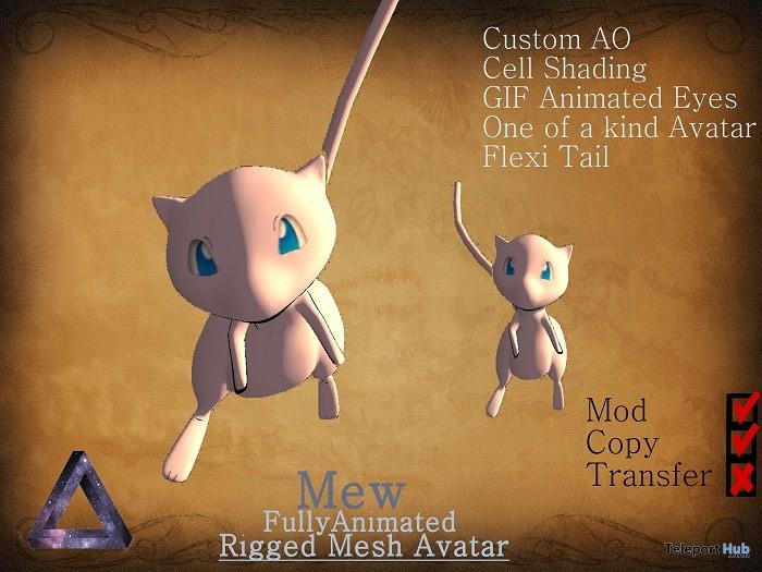 Mew Rigged Mesh Avatar by mAsh - Teleport Hub - teleporthub.com