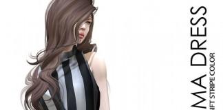 Emma Dress Stripe Group Gift by GABRIEL - Teleport Hub - teleporthub.com