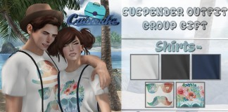 Suspender Outfit for Male and Female Group Gift by Caboodle - Teleport Hub - teleporthub.com