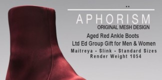 Ltd Ed Ankle Boots Unisex July 2015 Group Gift by APHORISM - Teleport Hub - teleporthub.com