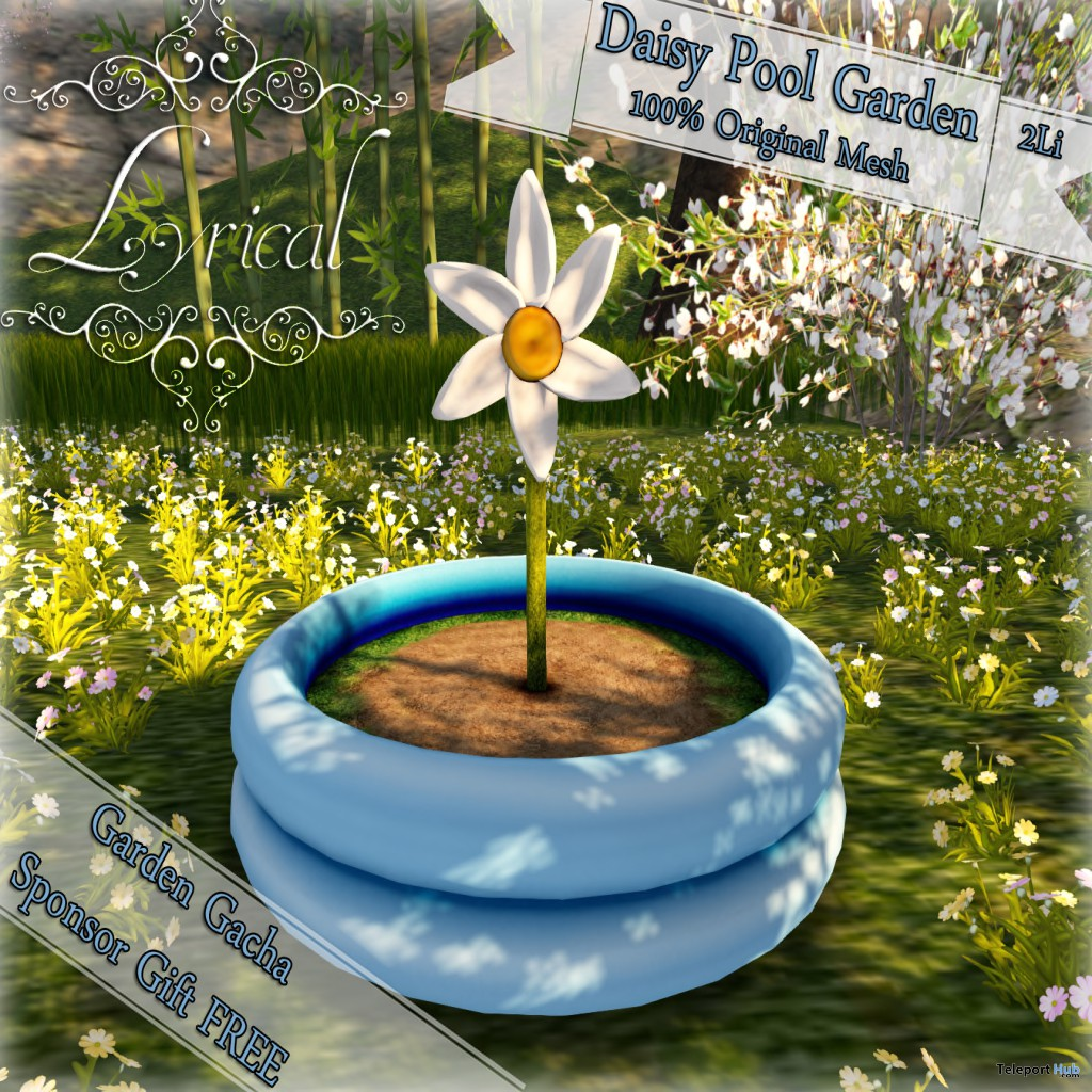 Daisy Pool Garden Gimme Gacha Group Gift by Lyrical - Teleport Hub - teleporthub.com