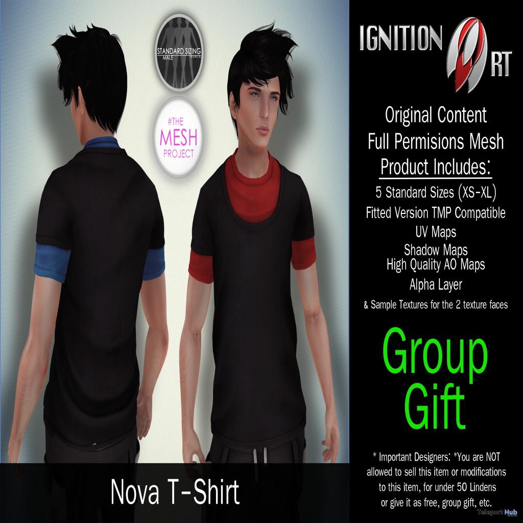 Nova TShirt August 2015 Group Gift by Ignition Art - Teleport Hub - teleporthub.com