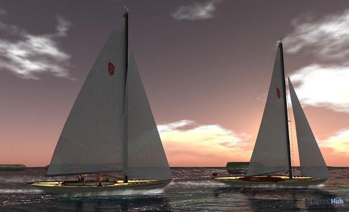 27 Prims Shields Class Sailboat by STUFF - Teleport Hub - teleporthub.com