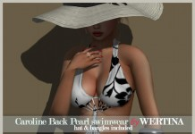 Caroline Black Pearl Swimwear Group Gift by WERTINA - Teleport Hub - teleporthub.com