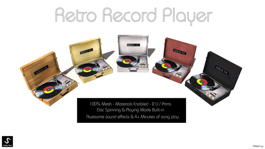New Release: Retro Record Player by [satus Inc] - Teleport Hub - teleporthub.com