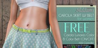 Carola Skirt with Belt by Addams - Teleport Hub - teleporthub.com