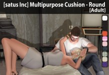 New Release: Multipurpose Cushion - Round [Adult] & [PG] by [satus Inc] - Teleport Hub - teleporthub.com