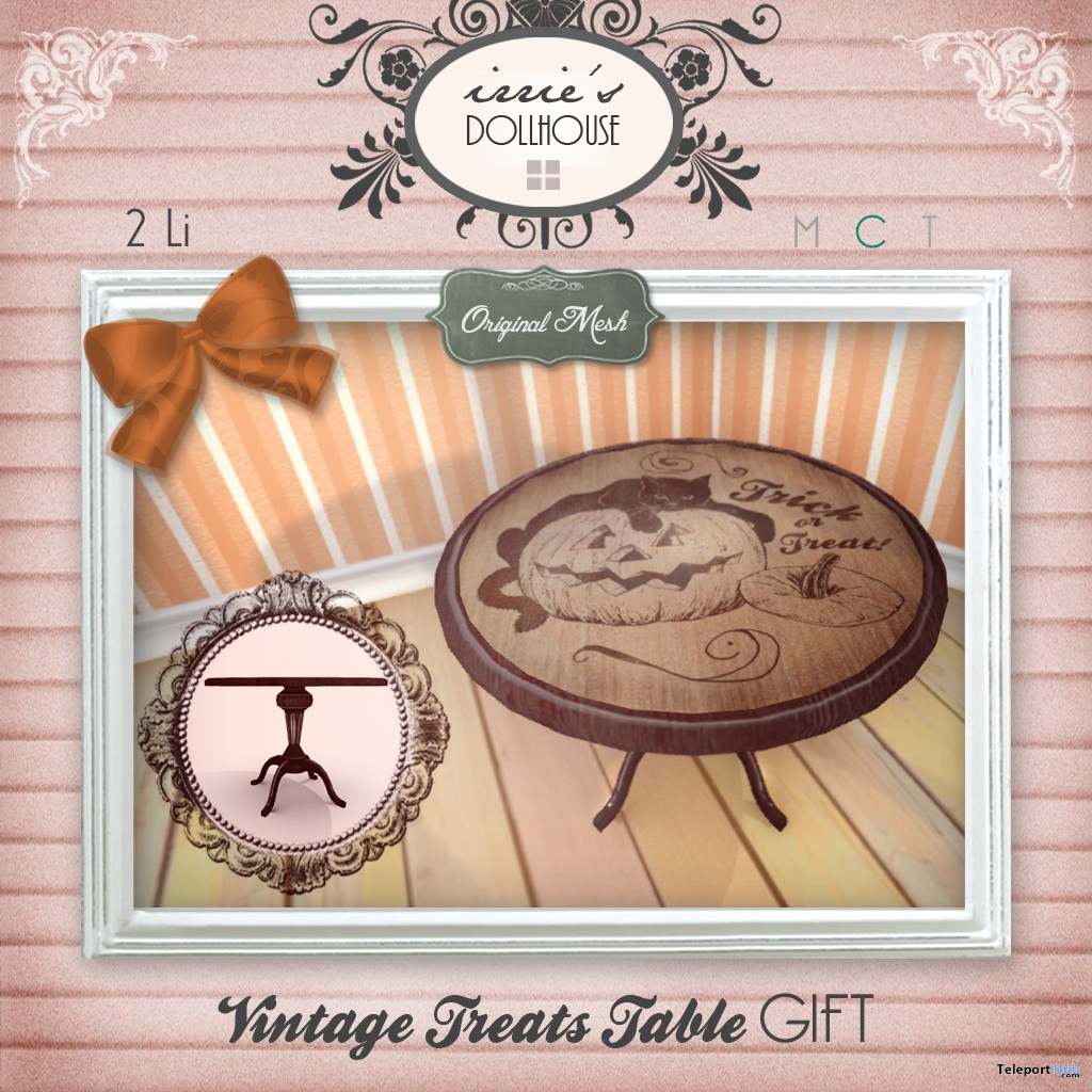 Vintage Treats Table Group Gift by irrie's Dollhouse - Teleport Hub - teleporthub.com