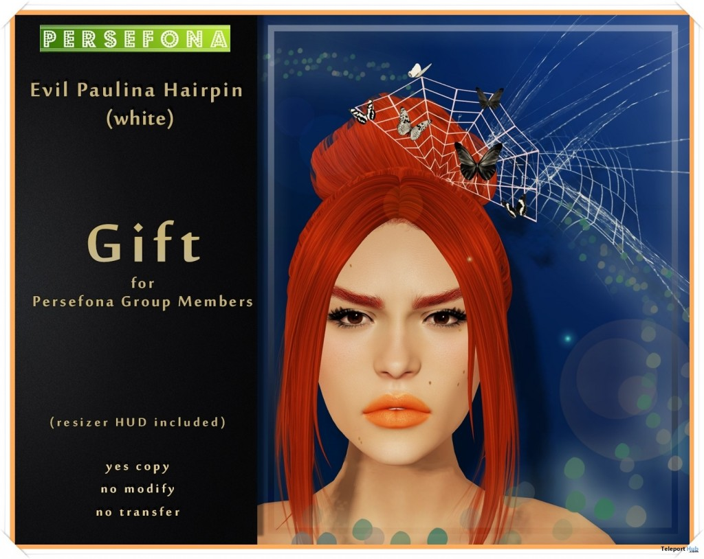 Evil Paulina Hairpin Group Gift by Persefona - Teleport Hub - teleporthub.com