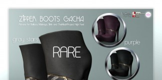 Zipper Boots October 2015 Gacha Group Gift by Pure Poison - Teleport Hub - teleporthub.com