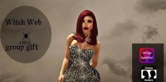 Witch Web Dress Group Gift by SEVYN EAST - Teleport Hub - teleporthub.com