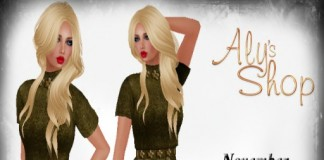 Green Dress November 2015 Group Gift by Aly's Shop - Teleport Hub - teleporthub.com