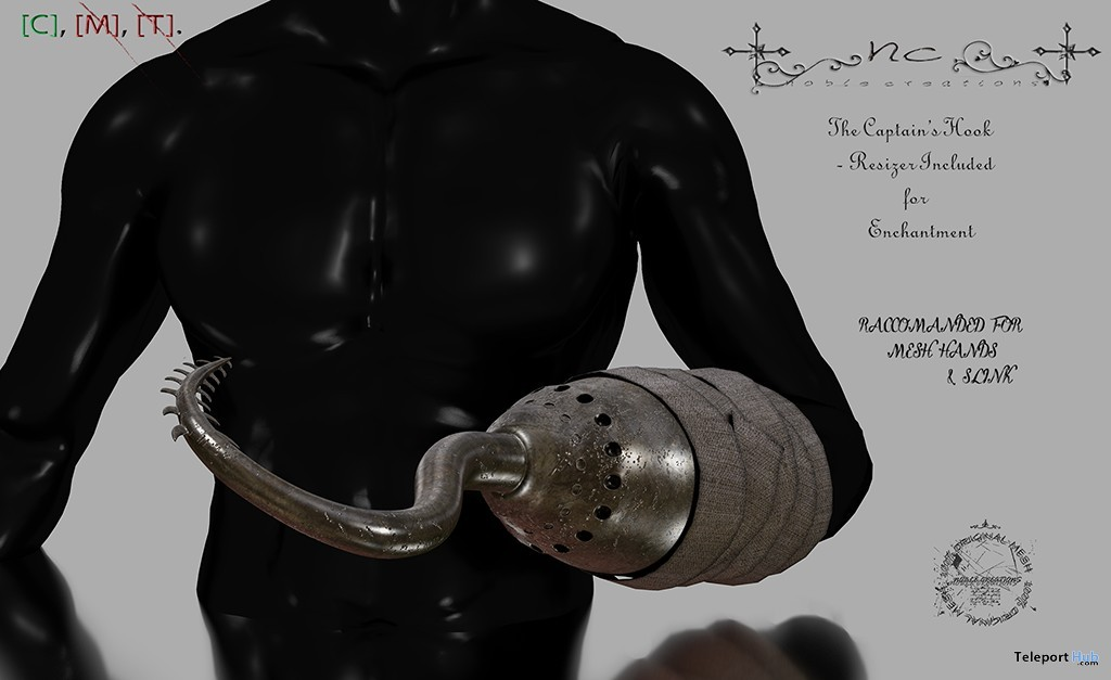 New Release: The Captain's Hook by Noble Creations - Teleport Hub - teleporthub.com