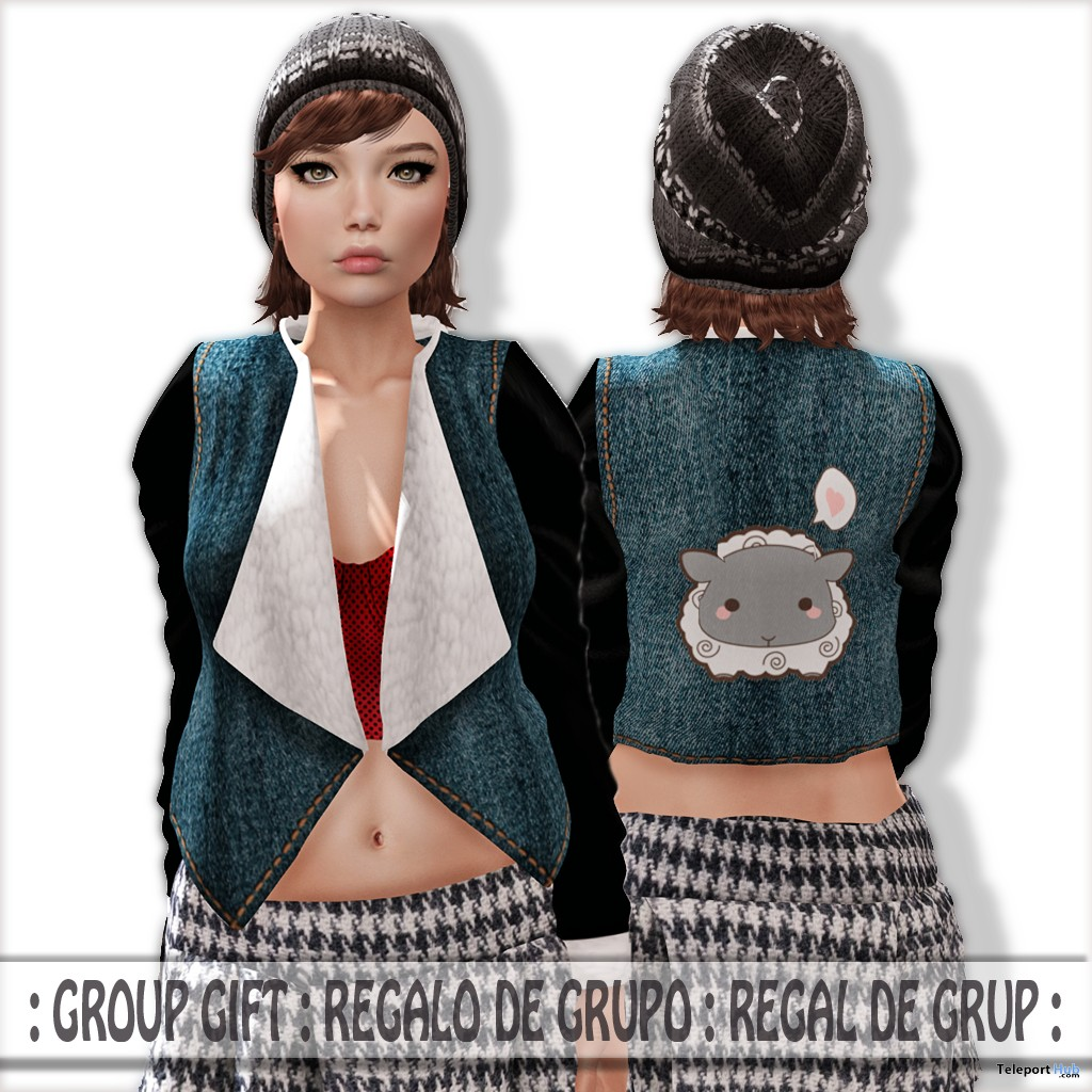 Jeans Jacket November 2015 Group Gift by AtiK - Teleport Hub - teleporthub.com
