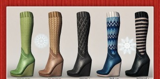 Knitted Wedge Boots December 2015 Gacha Group Gift by Pure Poison - Teleport Hub - teleporthub.com