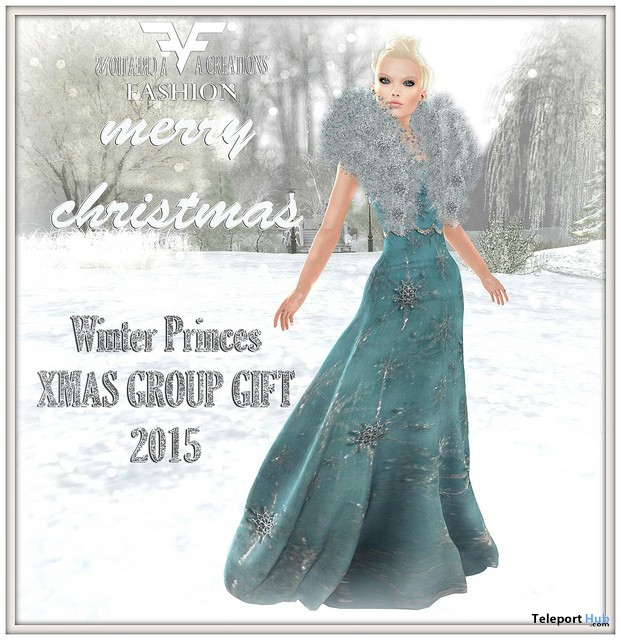 Winter Princess Gown XMAS 2015 Group Gift by FA CREATIONS - Teleport Hub - teleporthub.com