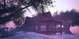 Winter Cabin 3 Versions Holiday Group Gift by Blueberry - Teleport Hub - teleporthub.com