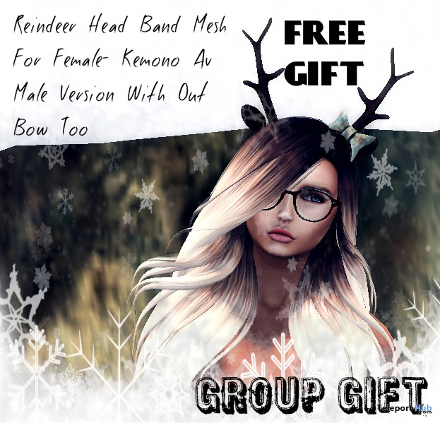 Head Band Rendeer For Female And Kemono Avatar Group Gift by The Frozzen Fair 2015 - Teleport Hub - teleporthub.com