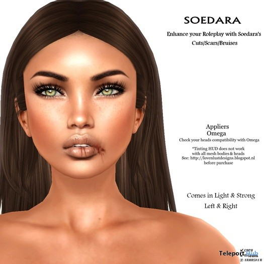 Cut Lip Omega Applier For Mesh Head by Soedara - Teleport Hub - teleporthub.com