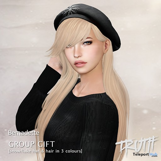 Bernadette Snowflake Hat With Hair In 3 Colors XMAS 2015 Gift by TRUTH - Teleport Hub - teleporthub.com
