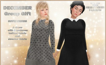 Sofie Dress 2 Versions Group Gift by FA CREATIONS - Teleport Hub - teleporthub.com