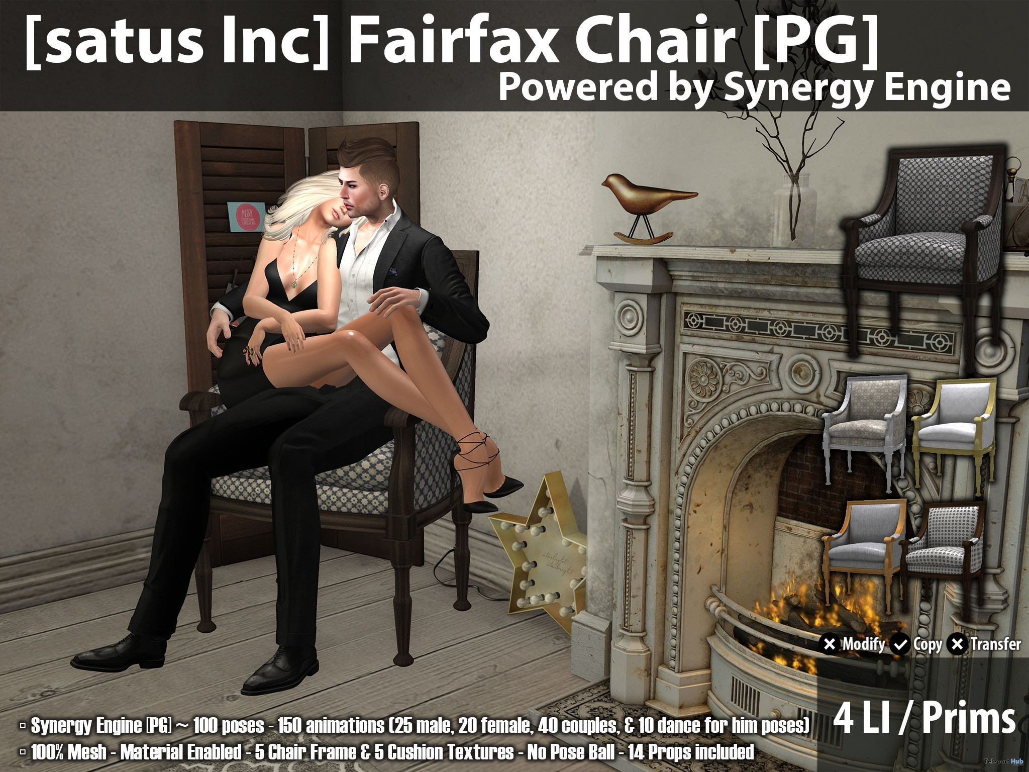New Release: Fairfax Chair [Adult] & [PG] by [satus Inc] - Teleport Hub - teleporthub.com