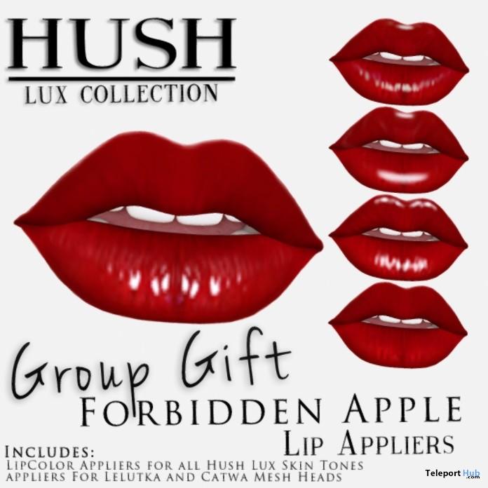 Forbidden Apple Lips Applier for Mesh Heads Group Gift by HUSH - Teleport Hub - teleporthub.com