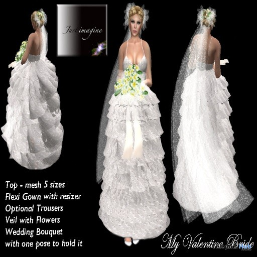 My Valentine Bride Outfit Group Gift by Just Imagine - Teleport Hub - teleporthub.com