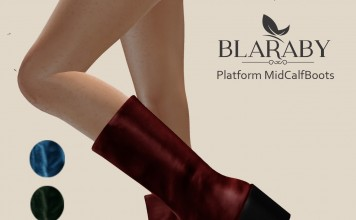 Platform MidCalfBoots Group Gift by [BLARABY]