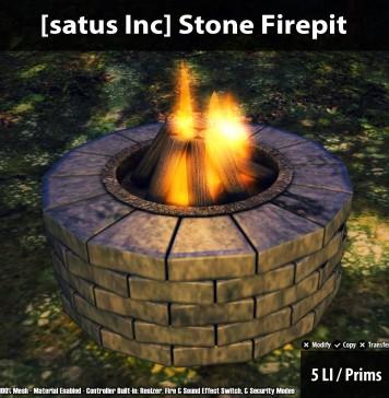 New Release: Stone Firepit by [satus Inc] - Teleport Hub - teleporthub.com