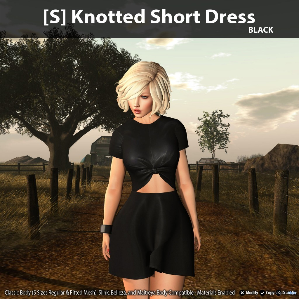 New Release: [S] Knotted Short Dress by [satus Inc] - Teleport Hub - teleporthub.com