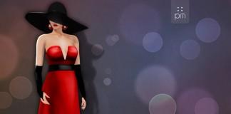 Red Joana Gown Group Gift by PurpleMoon - Teleport Hub - teleporthub.com