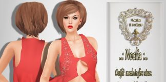 Noelia Pink Dress Group Gift by Nala Design - Teleport Hub - teleporthub.com