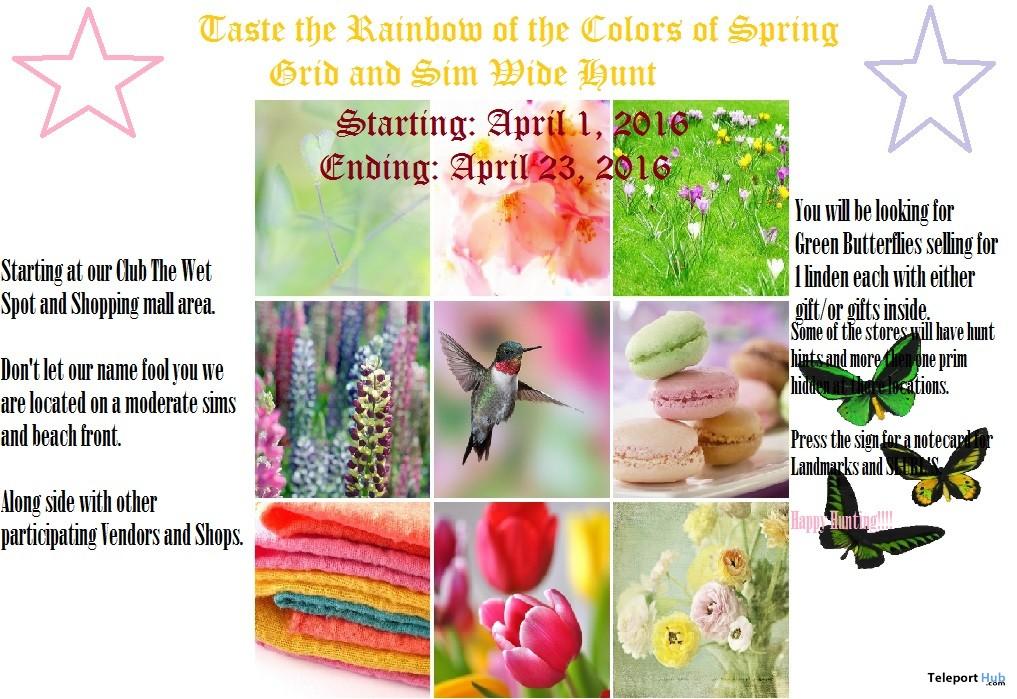 Taste the Rainbow Colors of Spring Hunt  - Teleport Hub - teleporthub.com