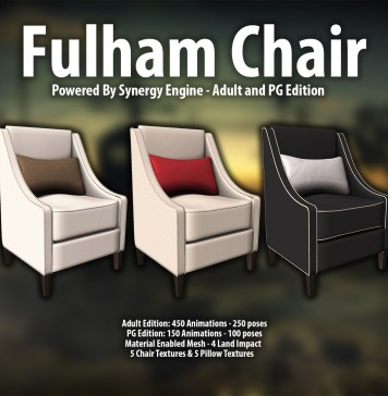 New Release: Fulham Chair [Adult] & [PG] by [satus Inc] - Teleport Hub - teleporthub.com