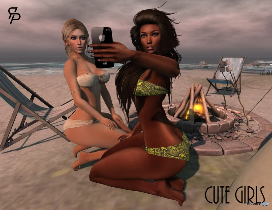 Cute Girls Pose Group Gift by Reel Poses - Teleport Hub - teleporthub.com