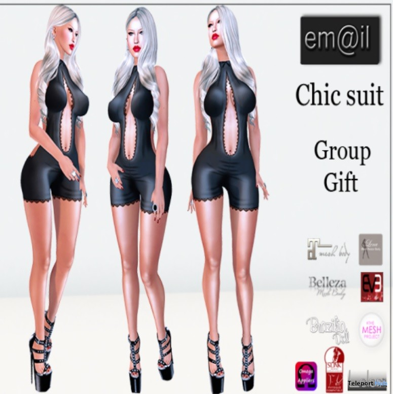 Chic Suit with Appliers Group Gift by em@il - Teleport Hub - teleporthub.com