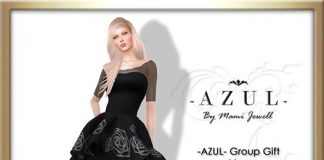 Black Dress With Body Appliers May 2016 Group Gift by AZUL - Teleport Hub - teleporthub.com