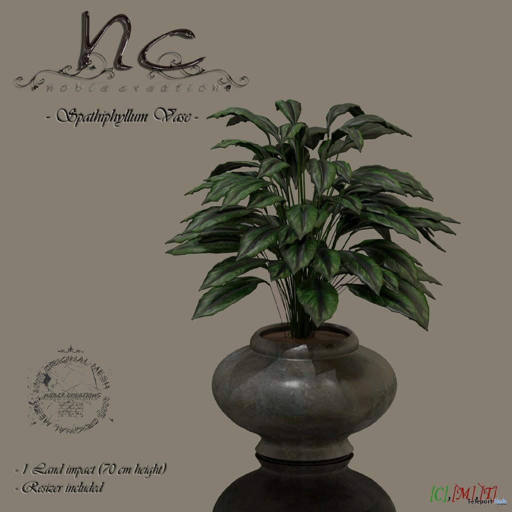 Spathiphyllum Vase Group Gift by Noble Creations - Teleport Hub - teleporthub.com